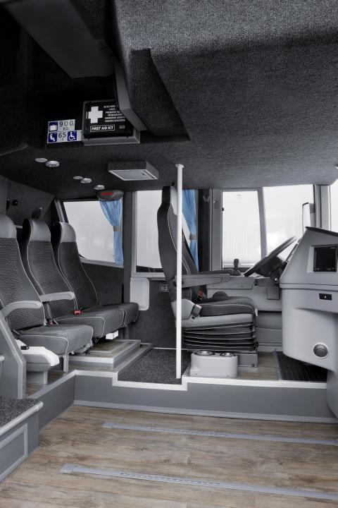 Scania Van Hool Altano førerplads