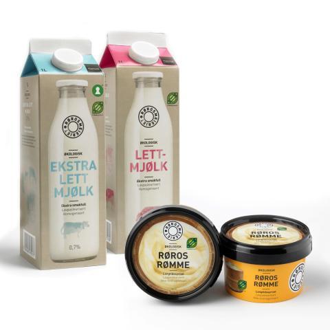 Lett melk, ekstra lettmelk og rømme fra Rørosmeieriet er nå på vei ut til KIWI-butikker over hele landet