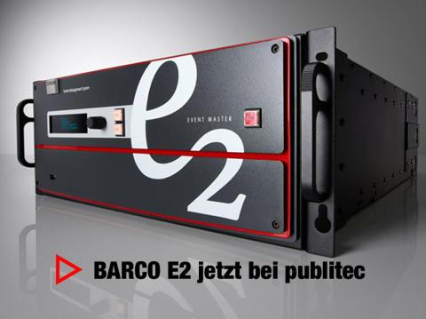 """Präsentationsmischersystem """"E2"""" von Barco bei publitec in der Vermietung verfügbar"""