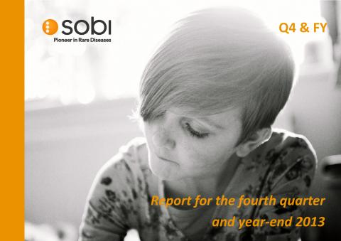 Sobi Q4 and Full Year Report 2013