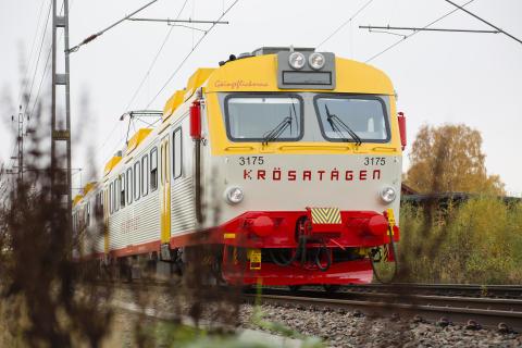 Populär eftermiddags-tur med Krösatågen från Alvesta-Älmhult tillbaka 1 juni