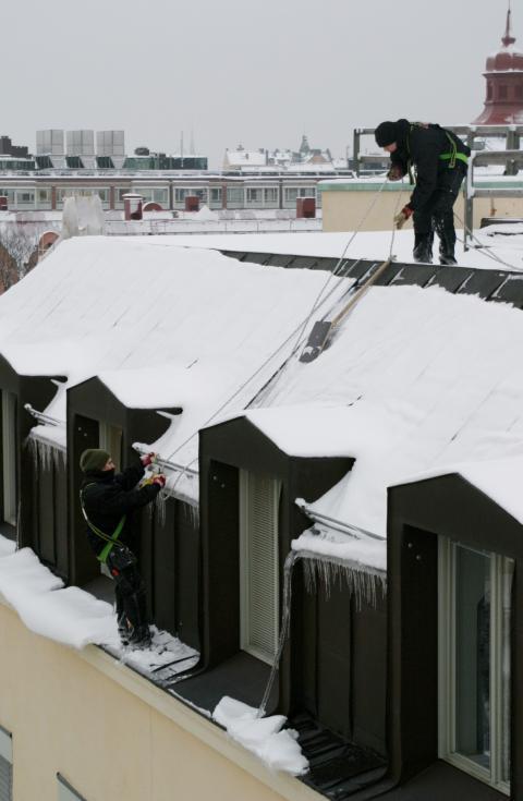 Snöskottning på hög nivå