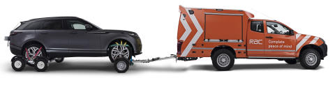 A RAC Heavy Duty 4x4 Patrol Van recovering