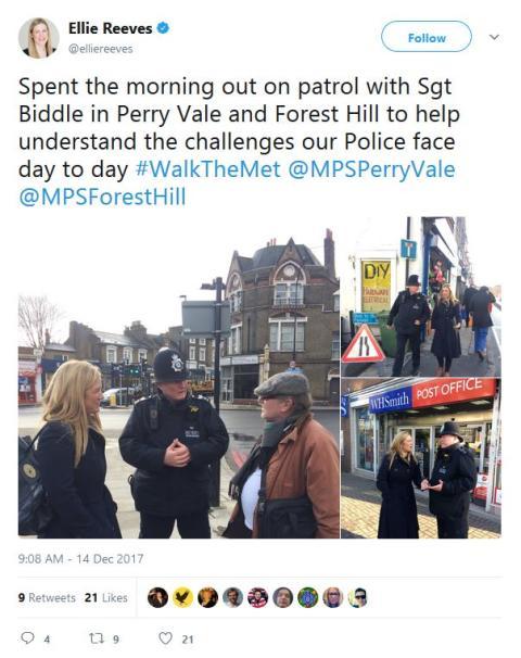 Ellie Reeves MP tweet