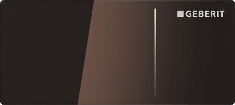 Geberit spolplatta Omega70 - umbra glas
