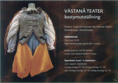Pressvisning av kostymutställningen i BerättarLAdan