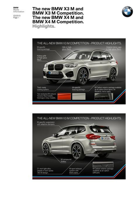 BMW X3 M og BMW X4 M - Highlights