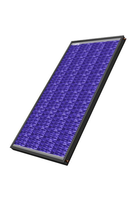 InVest ISP 2.0 - Solfångarpanel -  Årsutbyte vid 50 °C = 394 kWh/kvm