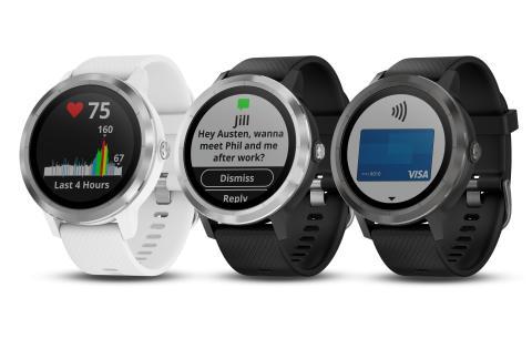Garmin® presenterar vívoactive® 3: en snygg smartwatch med GPS, inbyggda appar och pulsmätare