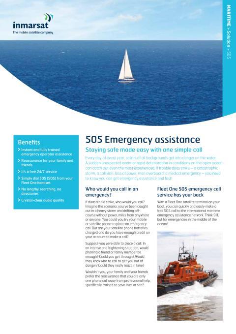Inmarsat 505 Leaflet