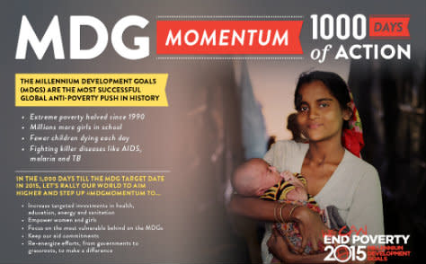 Världen har 1 000 dagar på sig att uppfylla millenniemålen