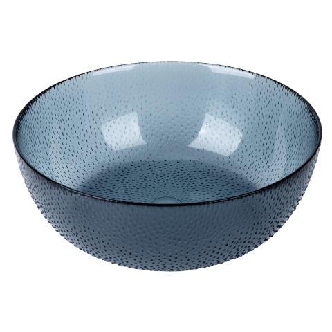 aida - RAW glass beads, skål, blå, D 26,5 cm, H 9 cm, vejl. pris 169,- DKK