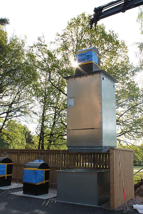 Provtämning av återvinningskärl på Aspö Eko-logi