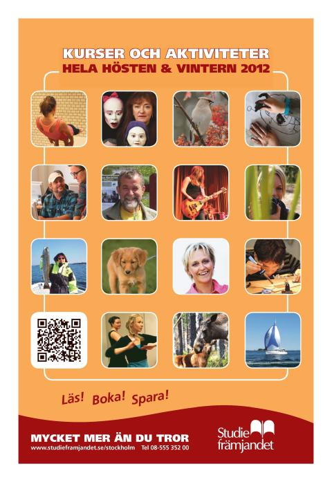 Studiefrämjandet i Stockholms höstprogram 2012