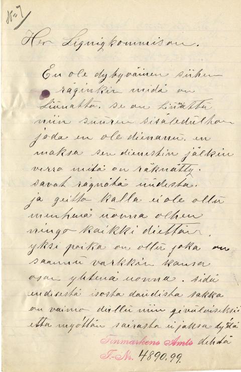 Kvenske og samiske dokumenter 1845–1914
