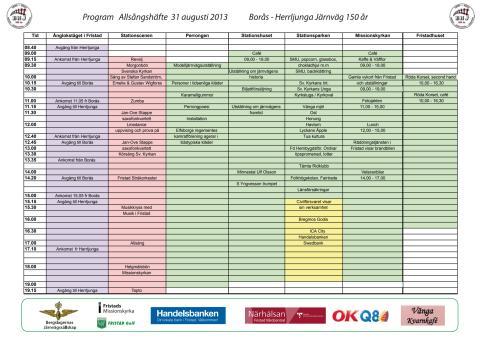 Program - Borås-Herrljunga järnväg 150 år