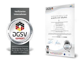 DGSV: Firmenmitgliedschaft