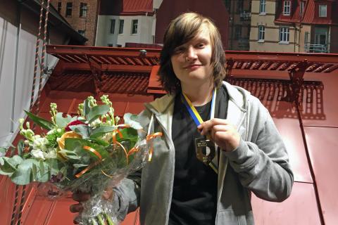 Vinnare i SM för unga plåtslagare: Erik Teuchler, Stockholms Byggtekniska Gymnasium, Kista (Upplands Väsby)