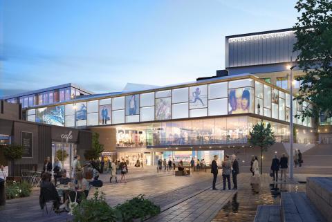 Visionsbild Danderyds Centrum Torget