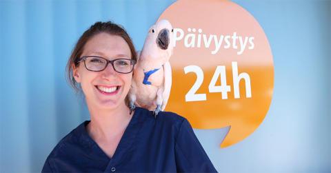 Uusi eksoottisten eläinten eläinlääkäri Vantaalle – perehtynyt erityisesti lintujen hoitoon