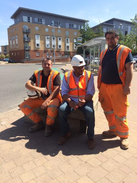 Contractors at Elstree & Borehamwood station