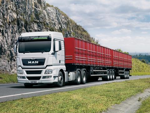 """MAN TGX, produceret i Brasilien, er netop blevet kåret som """"Truck of the Year"""" af læserne"""