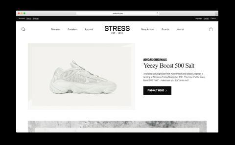 Panagora lanserar Stress95's nya e-handel vilket direkt ledde till ökad konvertering