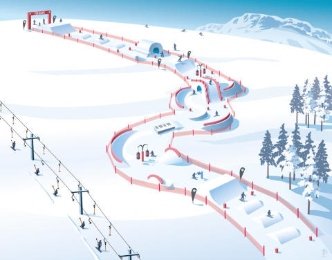 SkiStar fun slope