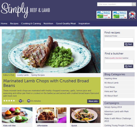 New consumer website to get people cooking with beef and lamb