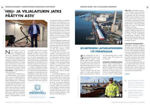 Terramare Oy:n Tiedotuslehti Nro 02/Talvi 2019-2020: Artikkeli Naantalin sataman laiturilinjan 15-16-17 pidentämisestä