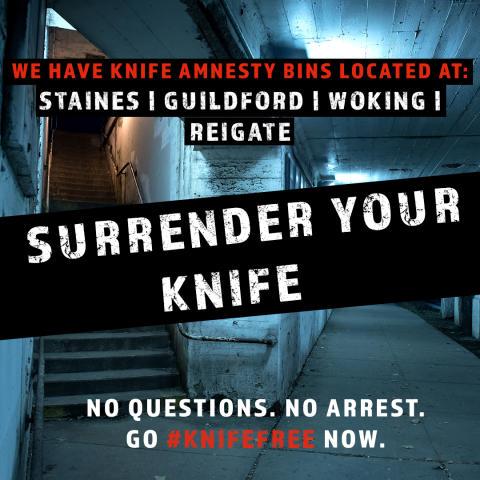 Surrey joins national campaign against knife crime