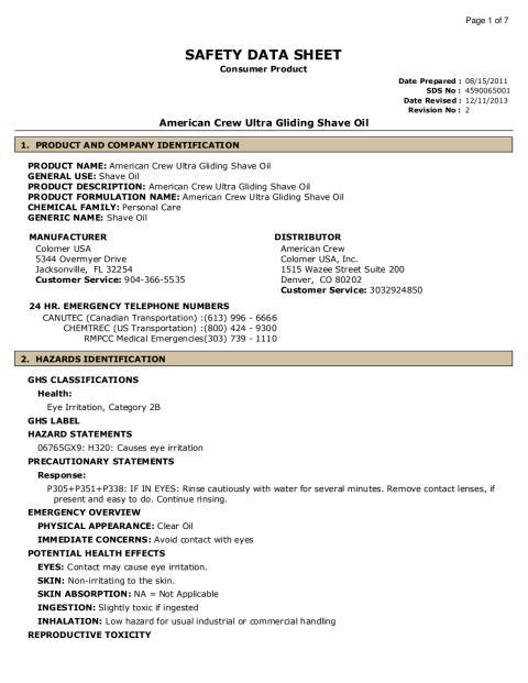 American Crew - Ultra Gliding Shave Oil