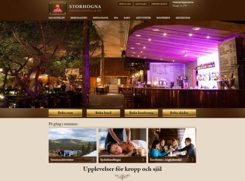 Storhogna Högfjällshotell & Spas nya hemsida www.storhogna.se