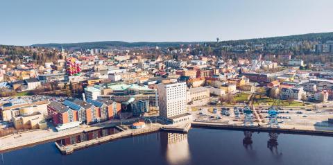 Invigning av Elite Plaza Hotel Örnsköldsviks uteservering