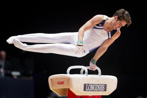 Michael Trane VM artistisk gymnastik 2015