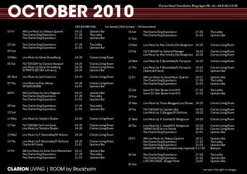 Eventkalender Oktober