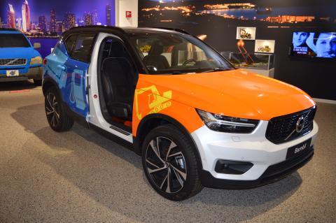 Prisbelönad Volvo lockar unga besökare