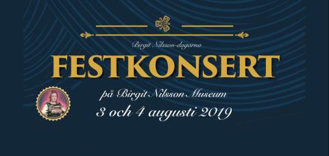 Birgit Nilsson Festkonsert   3-4 augusti framför Birgit Nilsson Museum Svenstad, Västra Karum