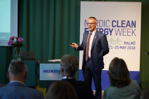 Anthony Munday, Stoke-on-Trent,  talar på Nordic Clean Energy Week 2018