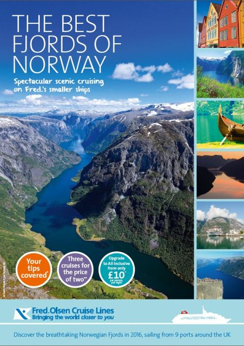 Fred. Olsen Cruise Lines showcases 'The Best Fjords of Norway' in 2016