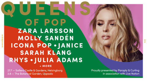 SARAH KLANG TILL QUEENS OF POP