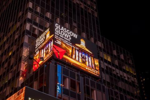 Times Square Glasgow-Delta ad 2