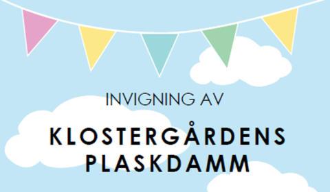 Pressinbjudan: Invigning av Klostergårdens plaskdamm