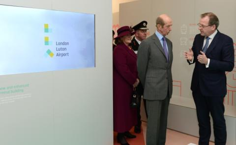 By Royal Appointment: HRH Duke of Kent visits London Luton Airport