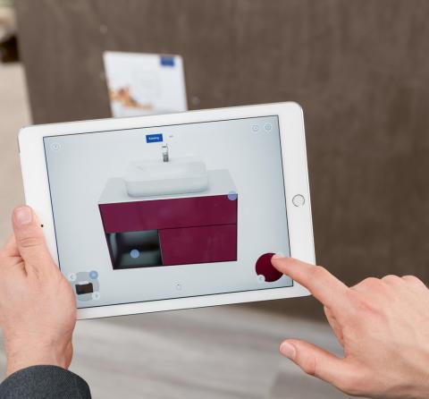 B2B: Neue Augmented Reality App von Villeroy & Boch –  Für eine virtuelle Erweiterung der Badausstellung