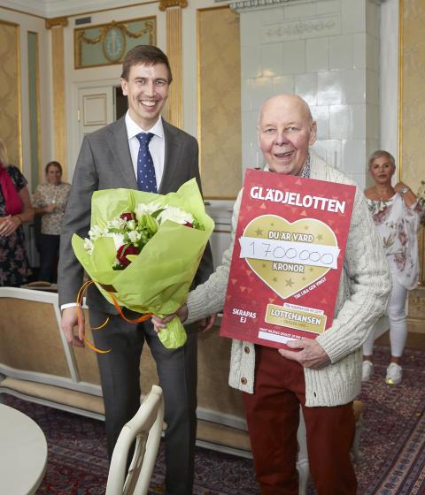 Evert från Eslöv vann 1,7 miljoner kronor på Glädjelotten