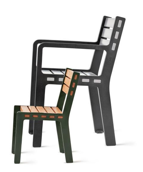 Frank barnstol och Frank fåtölj, design David Taylor. Nyhet 2020.