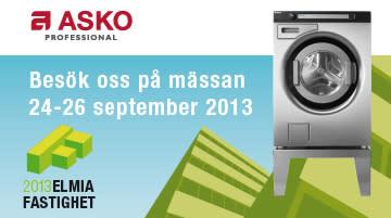 Besök ASKO Professional på Elmia Fastighet mässan, 24-26 september 2013