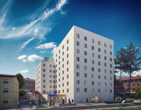 Veidekke bygger bostäder för 192 studenter