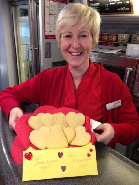 Virgin Trains shares the love on St Dwynwen's Day with help of local Flintshire bakery